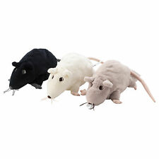Set of 3 x IKEA GOSIG RATTA Soft Toy Rats (Grey/White/Black Assorted Colours)