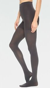 Spanx High-Waisted Luxe Leg Charcoal Tights size D retail $38