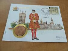 GREAT BRITAIN 1 PENNY 1964 COINS AND STAMPS OF ALL NATIONS SERIES   A1894