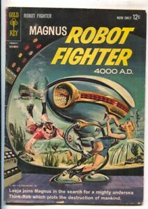 Magnus Robot Fighter #4 1963-Gold Key-Russ Manning-back cover pin-up-VG-