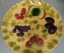 Set of four Sarreguemines French faïence, Majolica plates & Cake Plate Charger