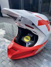 Fox V3 Preest MX Motocross Helmet MVRS & MIPS size adult small - white / red NEW