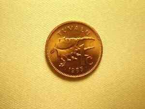Tuvalu 1 cent 1985 Sea Shell coin UNC