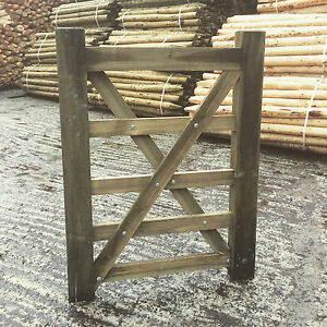 Wooden 5 Bar Diamond Braced Field Gate - Equestrian - Entrance - Pathway 3-12ft