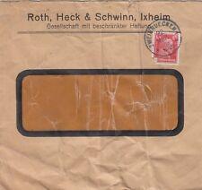 IXHEIM, Briefumschlag 1928, Roth, Heck & Schwinn GmbH