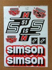 SIMSON S51 N STICKER SET- RED