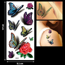 Magic 3D Girl Women Butterfly Angel Waterproof Temporary Tattoo Stickers Decal