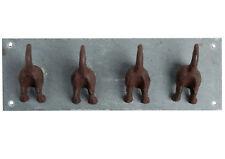 hierro fundido Cachorro FRAC Correa Ganchos pesado de pared 30cm x 12cm