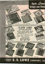 1946 PAPER AD ES Lowe Co World Series Rose Bowl Thorobred Board Game Games