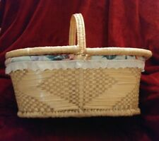 Large Beautiful Handmade And Decorated Wicker Picnic Basket