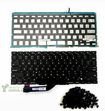 "NEW US Keyboard w Backlight 15"" Macbook Pro A1398 Retina 2013 2014 with (Screws)"