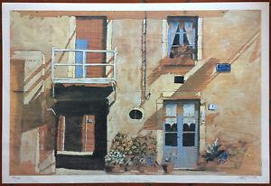 Massimo Lomi lito Provence 48x70 firmata numerata con timbro