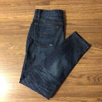 LUCKY BRAND Sienna Cigarette Skinny Jeans Dark Wash Distressed Size 0 Waist 25