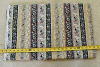 By 1/2 Yd, Vintage, Striped Floral & Paisley Quilt Border, Peter Pan, N5878