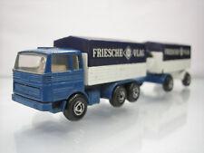 Diecast Efsi Mercedes Truck with Trailer Friesche Vlag Blue Good Condition