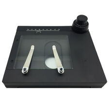 Microscope Adjustable X-Y Measuring Working Stage w/ Clips Specimen Holder Scale
