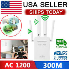 AC1200 WiFi Repeater Wireless 300M Extender Router Dual Booster Band Gigabit 5G