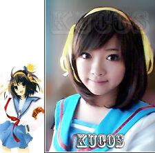Suzumiya Haruhi From Anime Suzumiya Haruhi no Yuuutsu Cosplay Wig + Free Cap