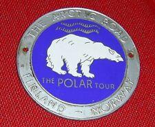 "Vecchia AUTOMOBILE PLACCA ""The Arktic Road"" Polar Tour Finland Norway"