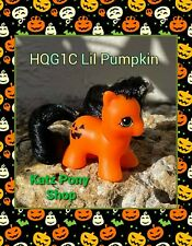 HQG1C Custom Vintage G1 MLP Style Halloween Pony 💜 Lil PUMPKIN 💜 GLOW in Dark!