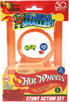 Worlds Smallest Hot Wheels Stunt Action Set - Worlds Smallest (2018, Toy NUOVO)