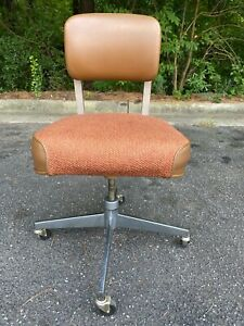Vintage Steelcase Bassick Swivel Office Chair 1978 Rolling MCM Industrial USA