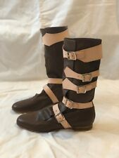 Vivienne Westwood Pirate Boots NEW - US Women's 11 / UK Men's 9 - Brown/Natural