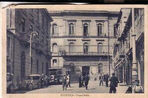POTENZA CITTA'    VIAGGIATA 1934 PIAZZA SEDILE ANIMATA AUTO E AUTOPOSTALE