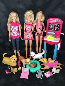 Barbie And Pets Puppy Playset Bundle