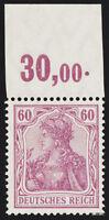 DR 1911, MiNr. 92 I a P OR, tadellos postfrisch, Attest Jäschke-L., Mi. 1800,-