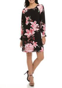 Nine West  Blouson Sleeve Shift floral Smock Dress (US XL- AUS 18) STUNNING