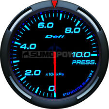 Defi Racer Car Oil Pressure Gauge - Blue - Stepper Motor - 52mm -DF06604