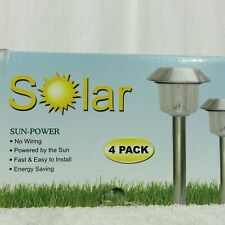 Solar LED Light Outdoor Power Lawn Lights Lamp No Wiring New In Box