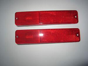 2 Jeep Rear Side Marker Light CJ5 CJ7 1972-1980 2 Red Lights