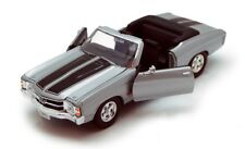 Chevrolet Chevelle SS 54 cabriolet argent 1971 1/24 Welly