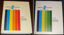 1977 + 1978 HEWLETT-PACKARD Test & Measurement CATALOGS Electronic Instruments
