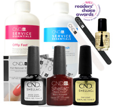 CND Shellac Starter Kit, Top/Base/Essentials/Color Burnt Romance