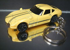 Yellow Toyota 2000 GT Diecast Key Chain Ring