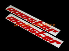 "2x 12"" 30.5cm Monster decal sticker Motorsport EVO IV Swift Initial D V VI X JDM"