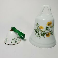 Vintage Royal Tara Shamrock Ireland Bell Bone China + Bonus Vintage Bell