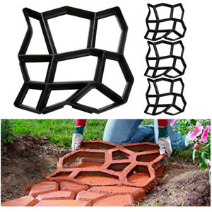 Pflasterform Trittsteine 4x Kopfsteinpflaster Schalungsform Form Garten DIY