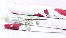 10 Yard Hand Block Printed Cotton White Fabric Flower Print Indian Fabric Craft