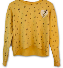 ROCK by JUNK FOOD NWT Cropped Yellow Lightning Bolt Sweatshirt - Medium