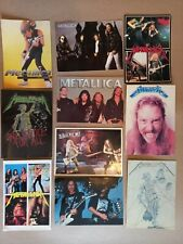 More details for metallica unposted set of 10 postcards. 1990s.