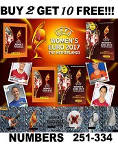 Panini Womens Euro 2017 STICKERS #1-250  BUY 2 GET 10 FREE! FREE 1ST CLASS POST!