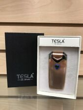 Tesla Dual Arc Coil Gold Electronic Plasma Lighter Re-Chargeable USB