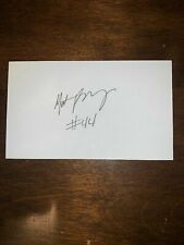 MATT KINGSLEY - BASKETBALL - AUTOGRAPH SIGNED - INDEX CARD -AUTHENTIC -C1383