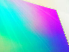 2pcs Acrylic Iridescent/Radiant Sheets in 600*600*3.0mm, Two Sides Rainbow Like!