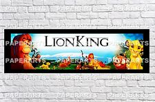 Personalized The Lion King Name Poster with Color Border Mat Wall Art Banner