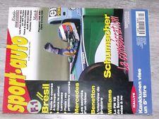 $$$ Revue Sport auto N°387 SchumacherKankkunenPanisBenettonWilliams